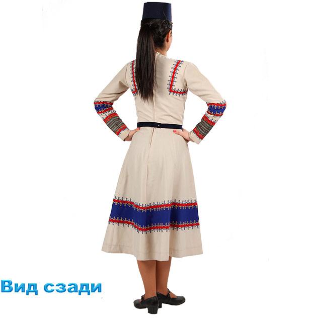 Костюм Кочари женский. Вид сзади