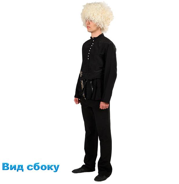 Костюм Лезгинки мужской. Вид сбоку в рубашке