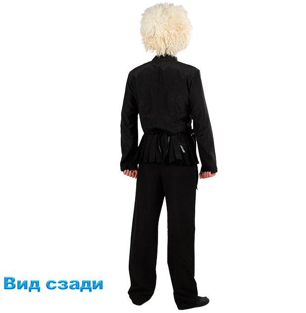 Костюм Лезгинки мужской. Вид сзади в рубашке