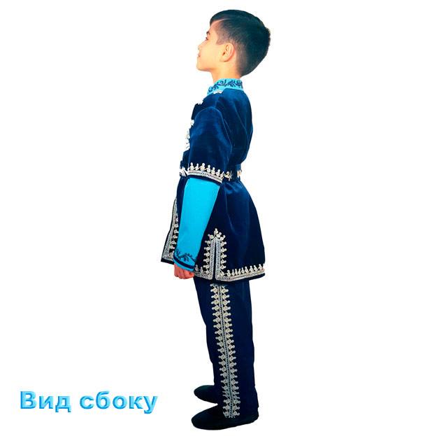 Детский синий бархатный костюм